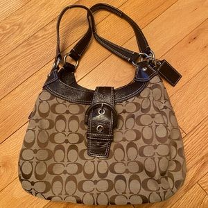 COACH | Signature Brown C Pattern Canvas Hobo Bag